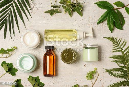 istock green cosmetic arrangement 821663580