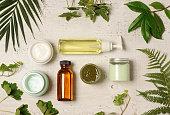 緑の化粧品整理