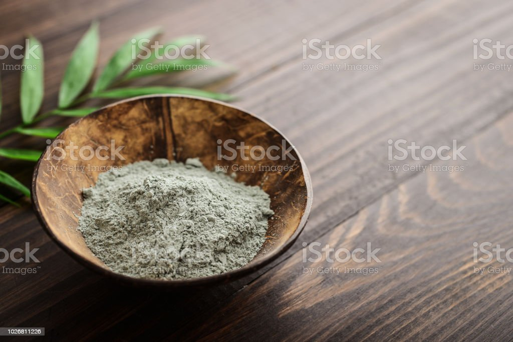 Grüne kosmetische Tonerde – Foto