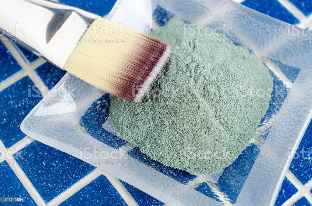 Vert argile de maquillage poudre - Photo