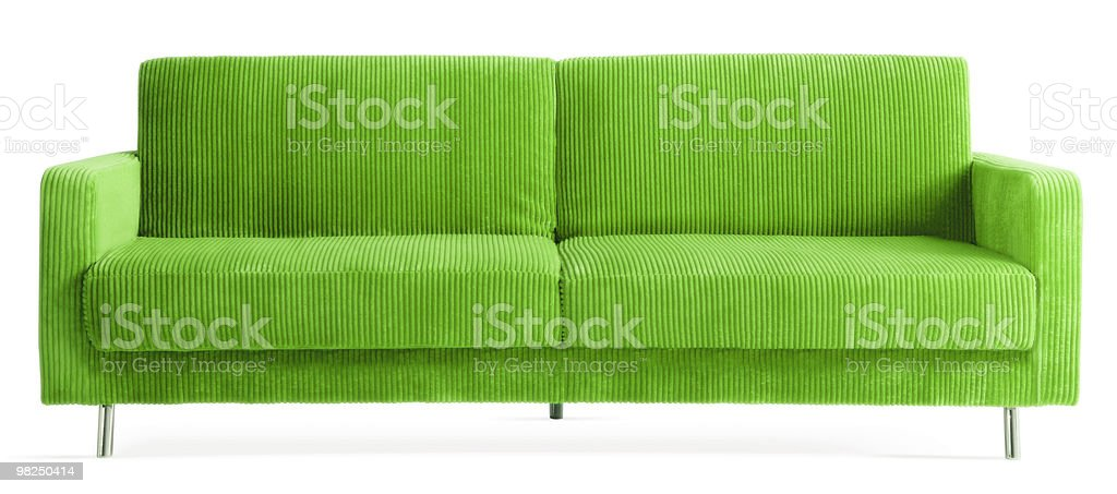 green couch royalty-free stock photo