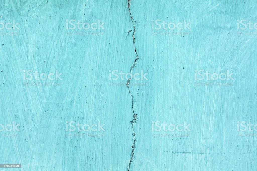 Green Cracked Wall Background royalty-free stock photo