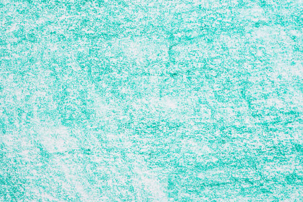 green crayon drawing background texture stock photo
