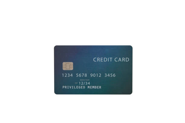 Cтоковое фото Green credit card on white background