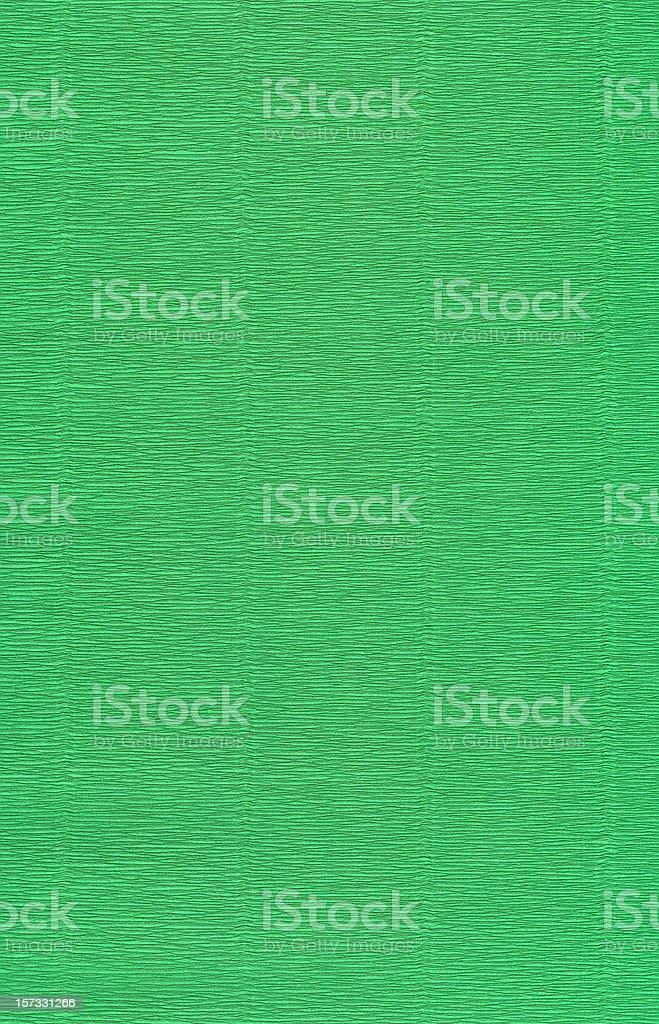 Green crepe paper XXL stock photo