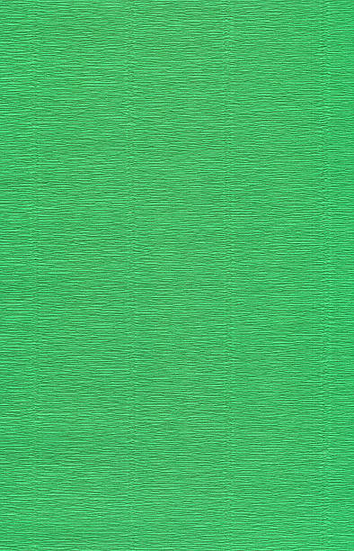 Green crepe paper XXL stock photo