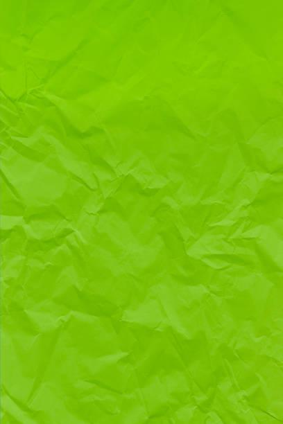 Grüne zerknitterte zerknitterte strukturierte Papier Hintergrund. – Foto