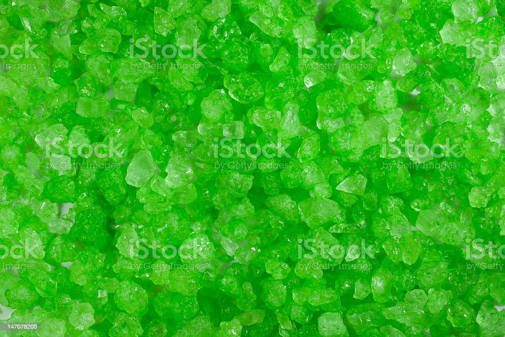 Green Crystal Rock Background stock photo