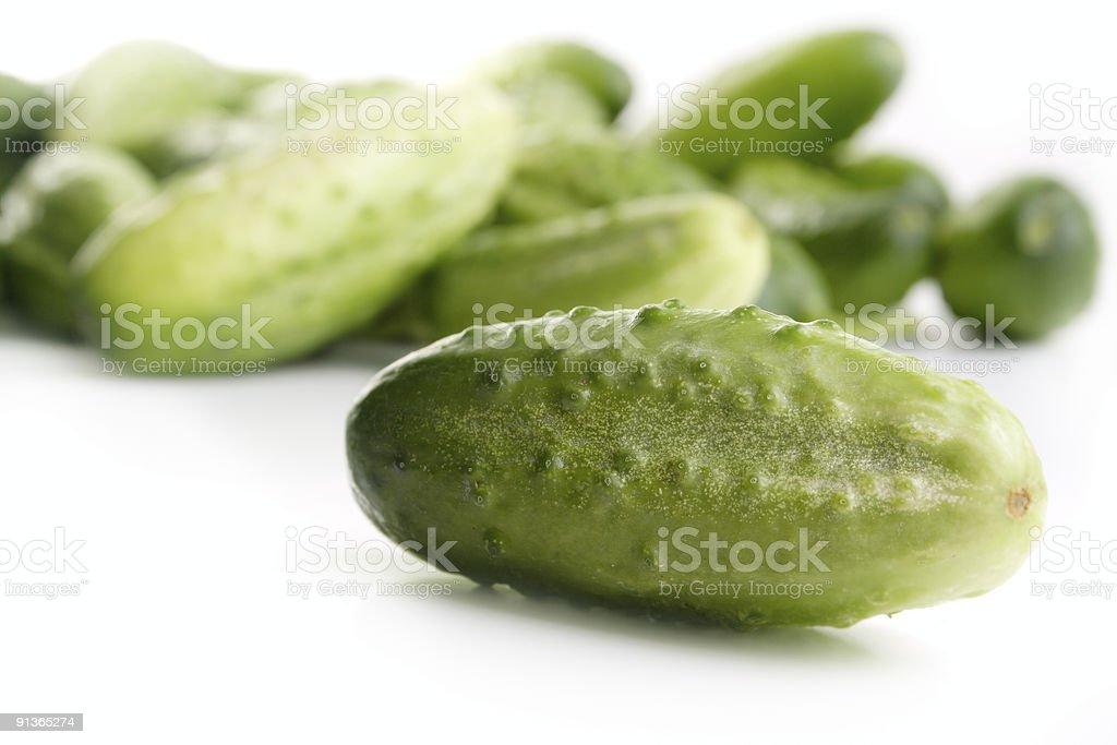 Green cucumber royalty-free stock photo