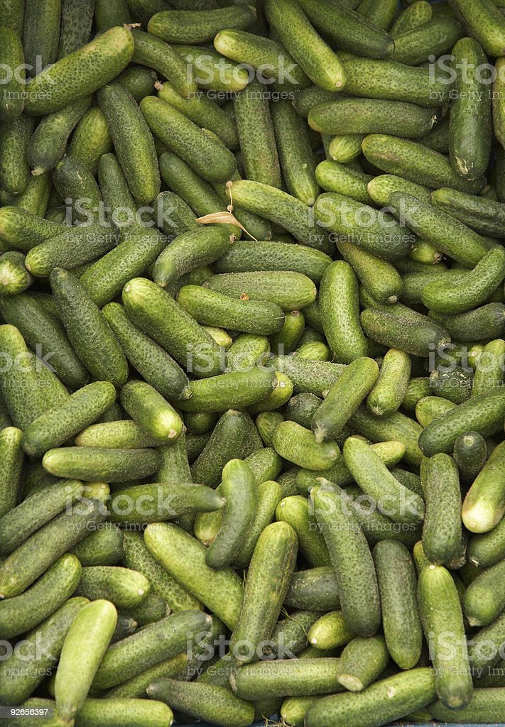 green cucumbers royalty-free stock photo