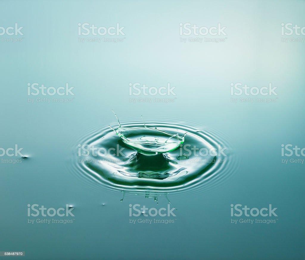 Green Cup Splash stock photo