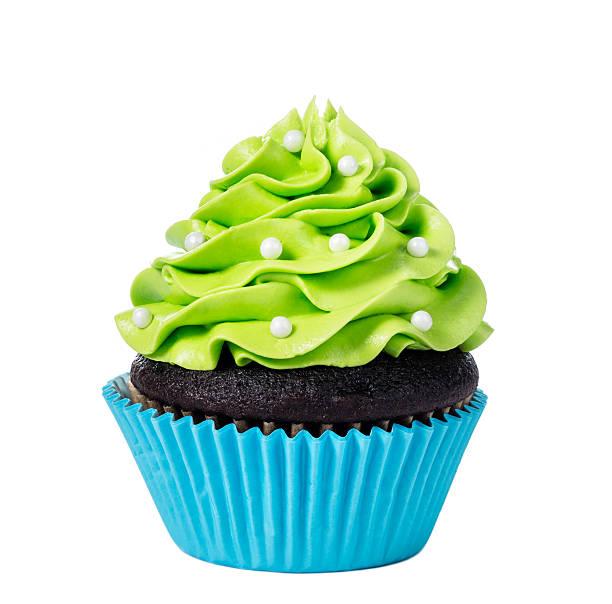 Green Cupcake stock photo