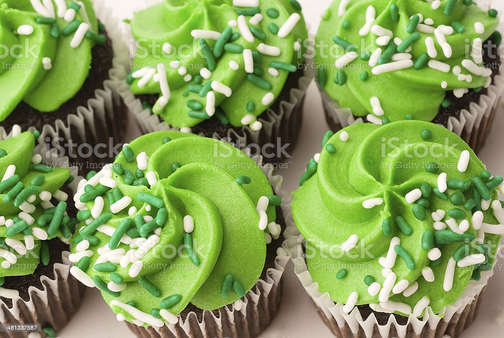 Green Cupcakes royalty-free stock photo