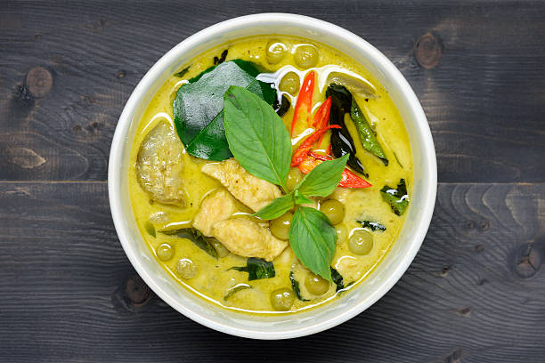 curry vert au poulet  - Photo