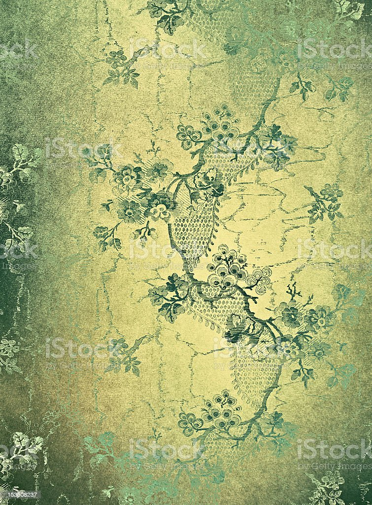 Green decorative floral background royalty-free stock photo