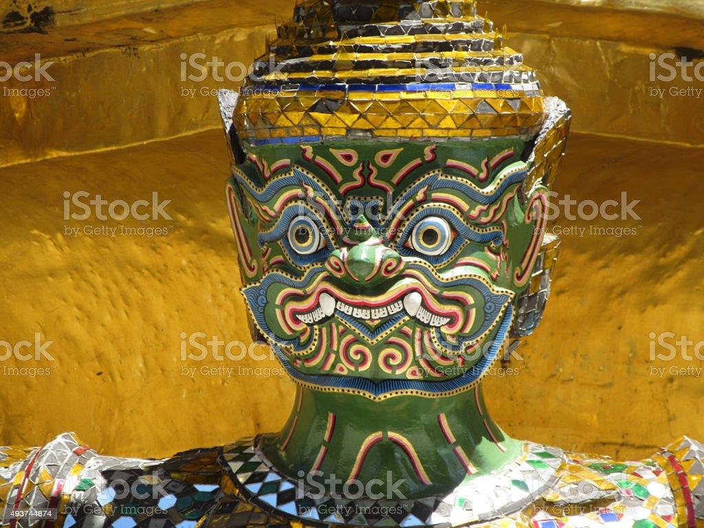 Green Demon, Grand Palace, Bangkok, Thailand stock photo
