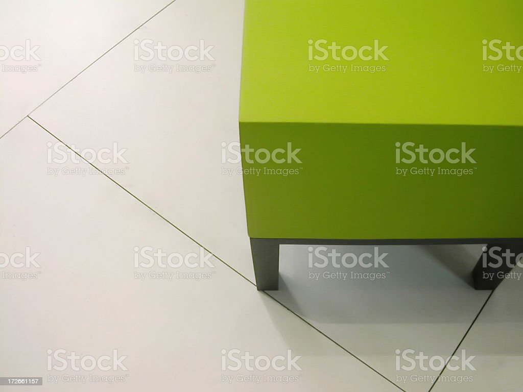 green design stool royalty-free stock photo