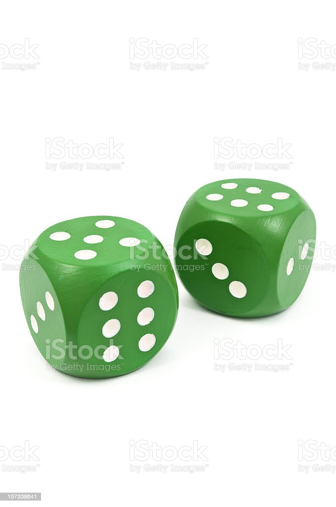Green Dice royalty-free stock photo