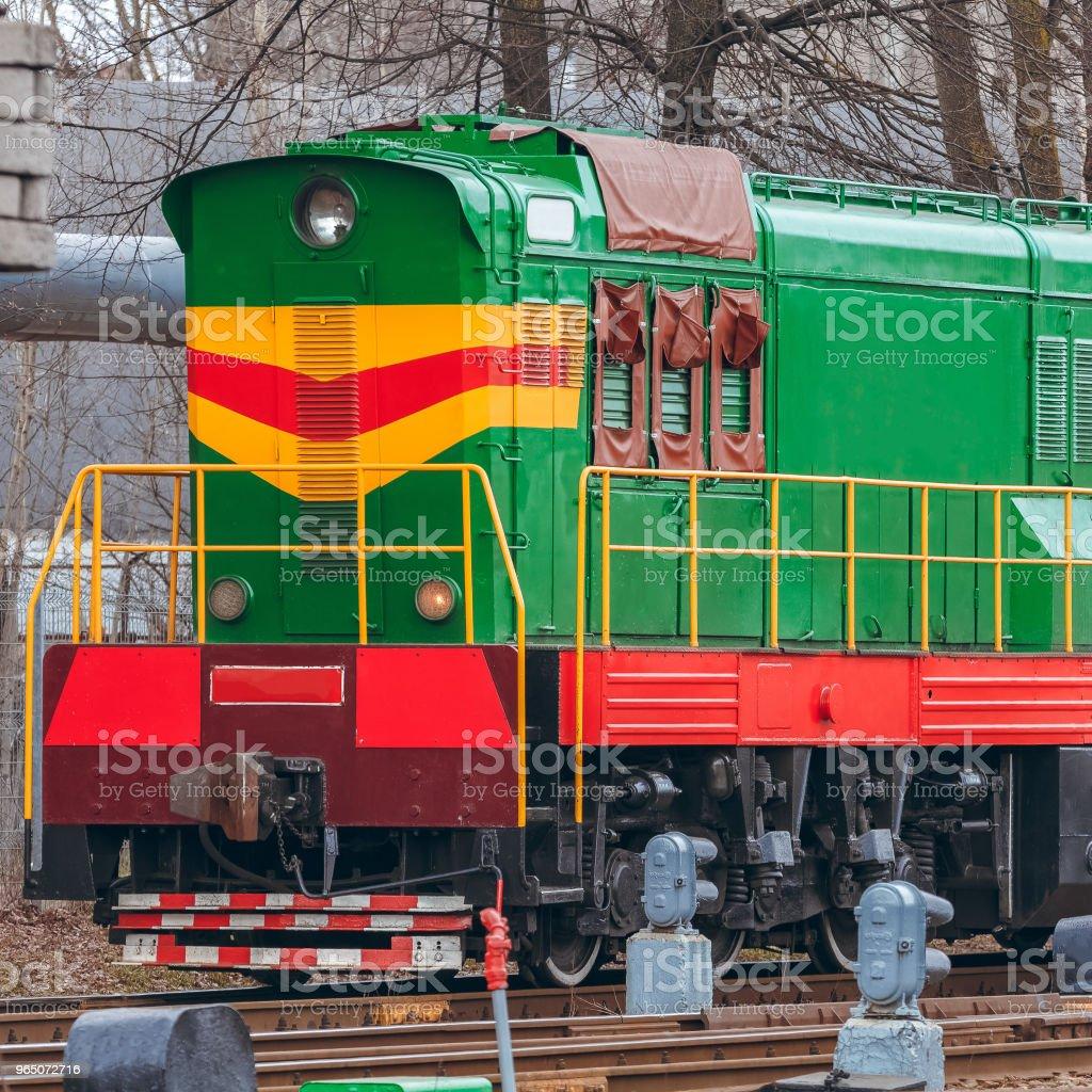 Green diesel locomotive royalty-free stock photo