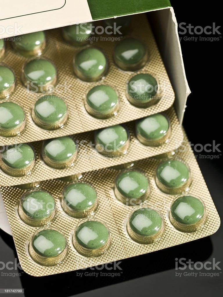Green Diet Pills royalty-free stock photo