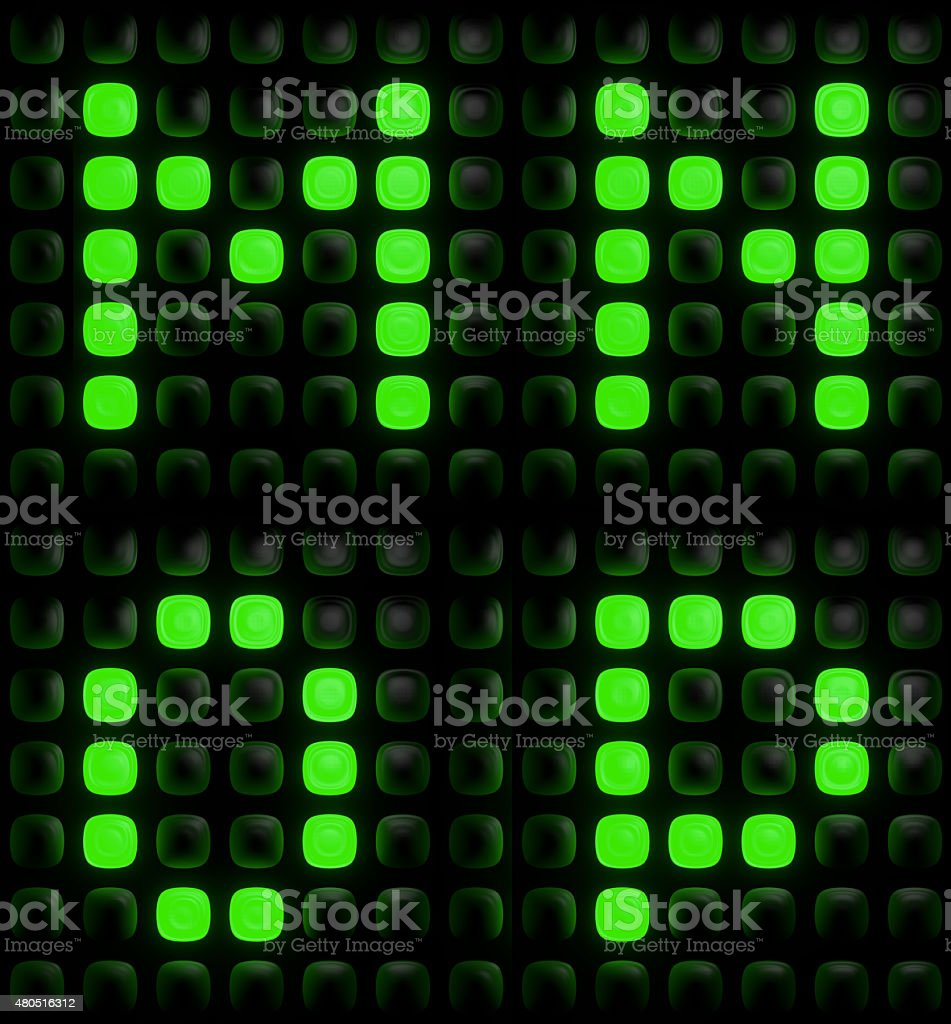 Green digital letters stock photo