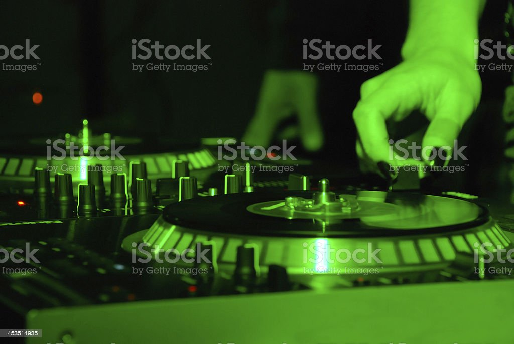 green dj royalty-free stock photo