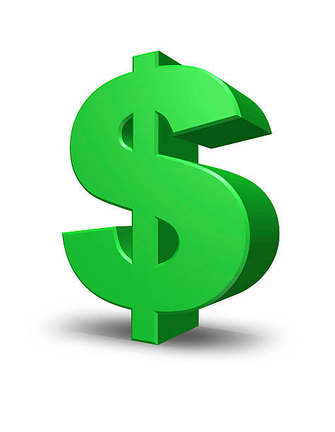 green dollar sign in green and white - dollar sign stock photos and pictures