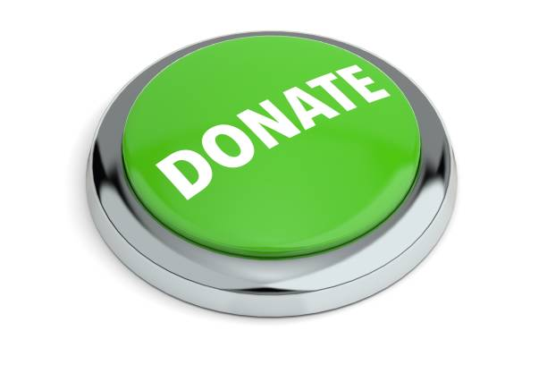 Green Donate Button stock photo