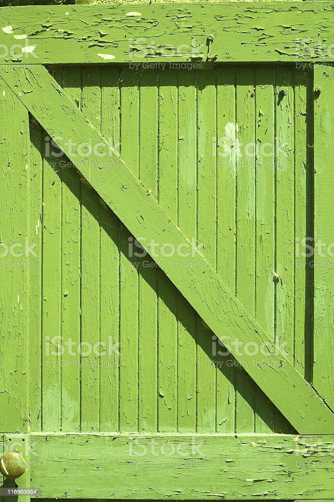 Green Door royalty-free stock photo