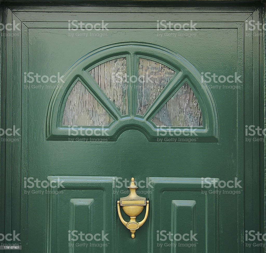 Green Door royalty-free stock photo