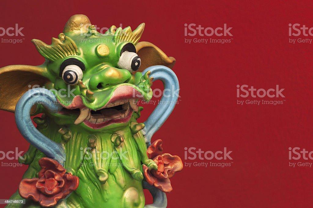 Green dragon royalty-free stock photo