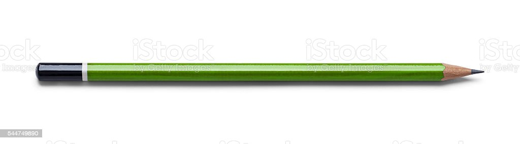 Green Drawing Pencil stock photo