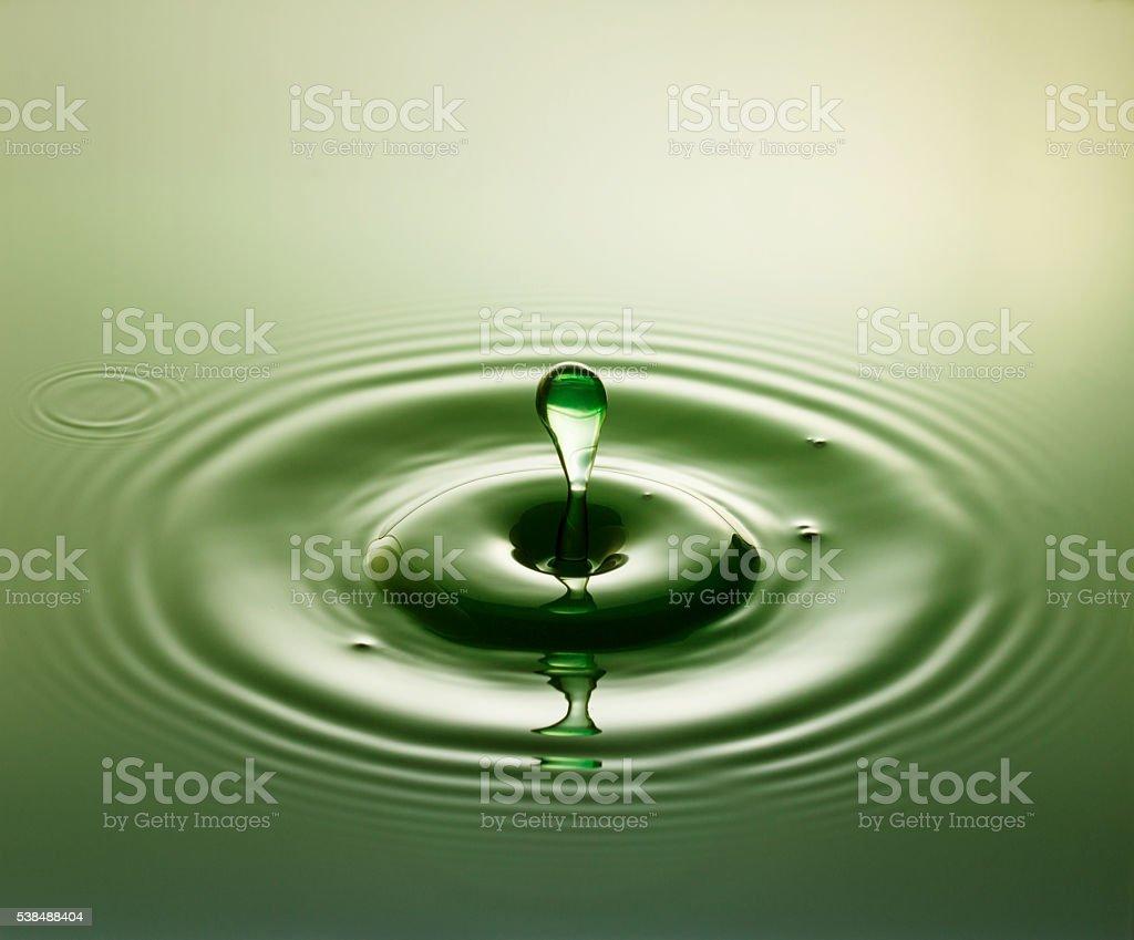 Green Drop stock photo