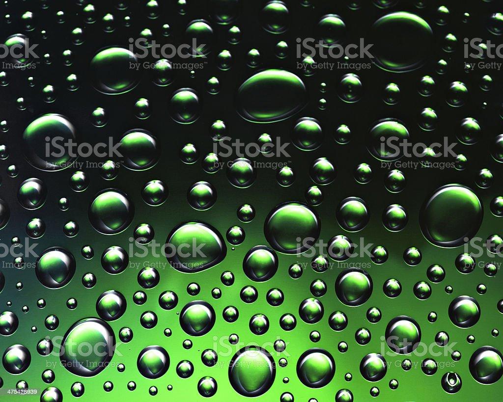 Green drops royalty-free stock photo