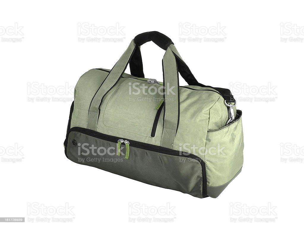 Green Duffel Bag royalty-free stock photo