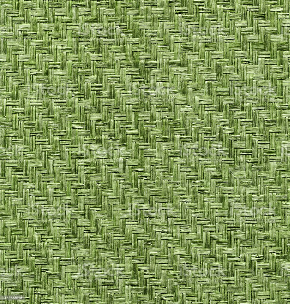 green dyed woven basket royalty-free stock photo