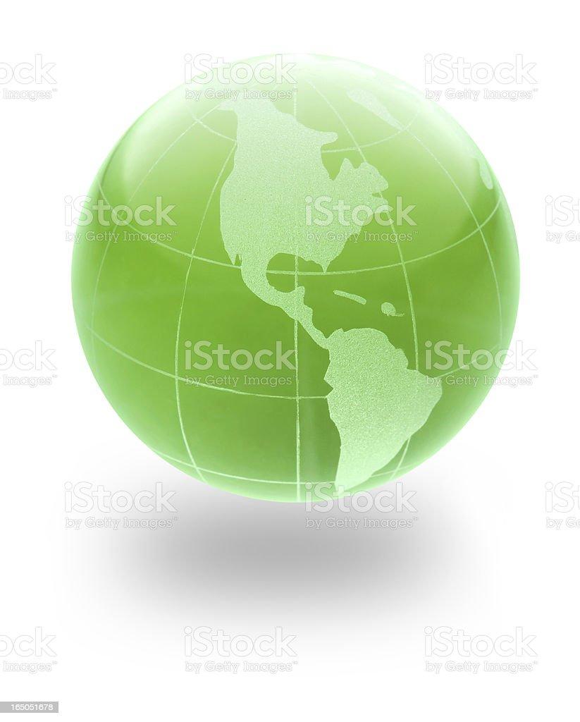 Green Earth glass Globe royalty-free stock photo
