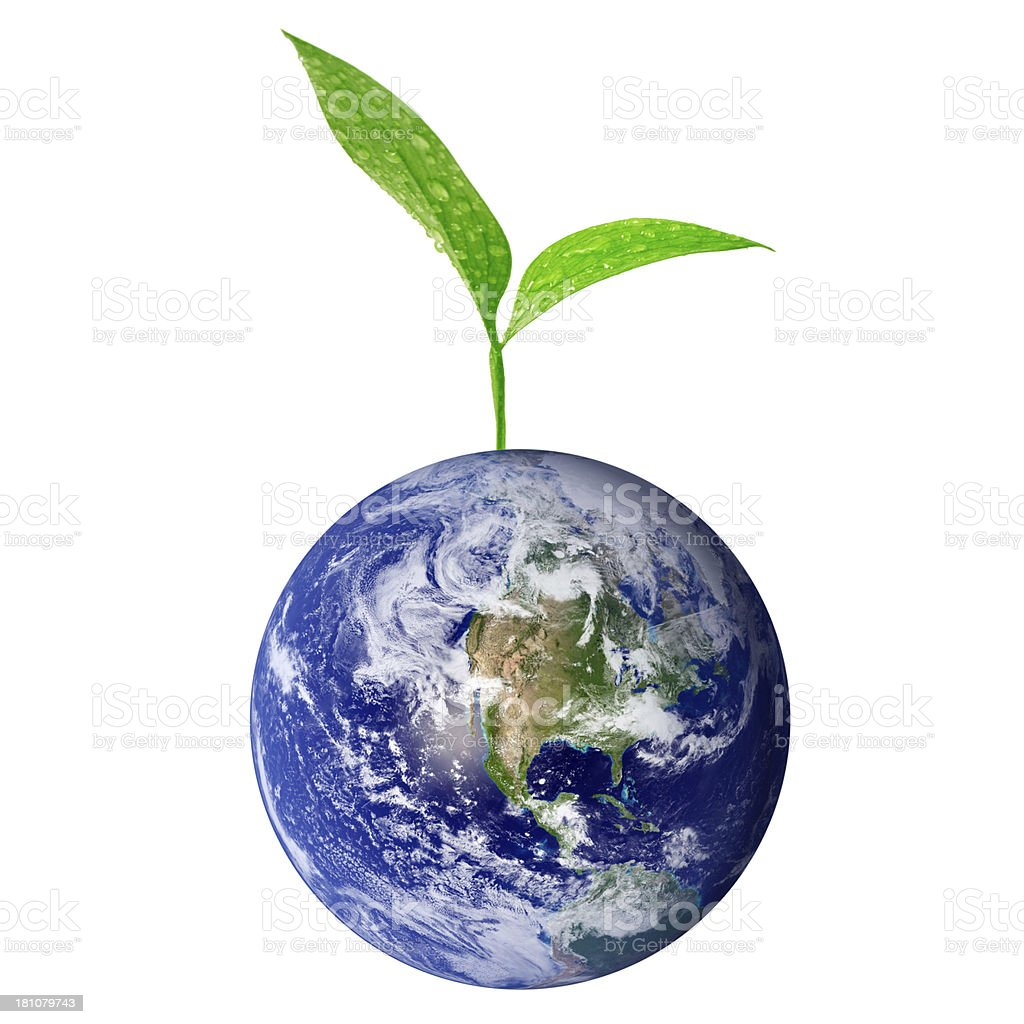 Green earth royalty-free stock photo