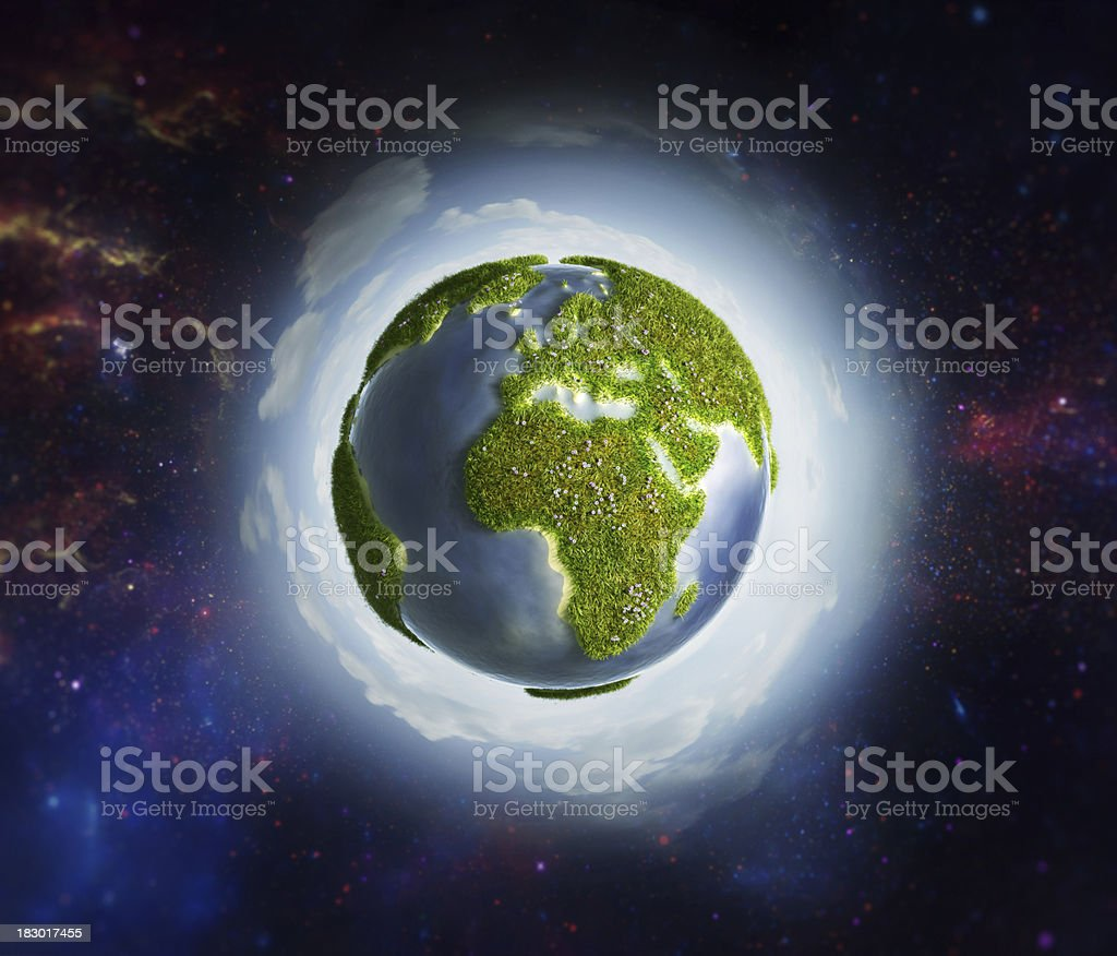 Green Earth [Space Background] royalty-free stock photo