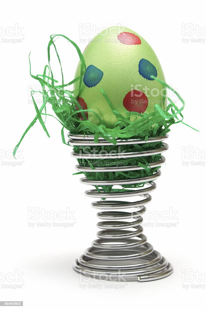 Green Easter Egg royalty-free stock photo
