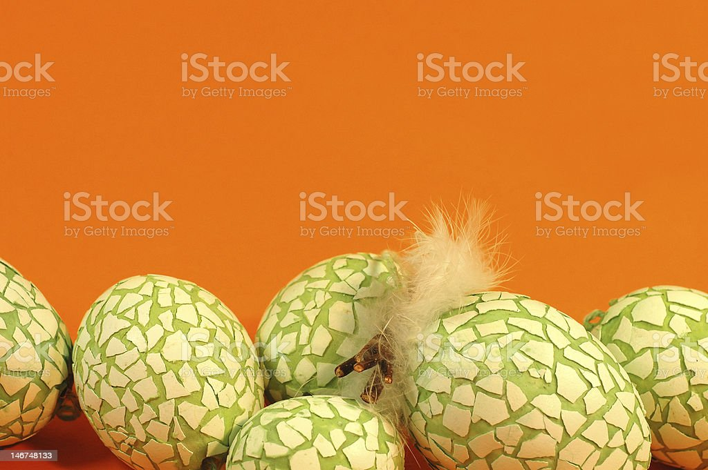 green easter eggs royalty-free stock photo