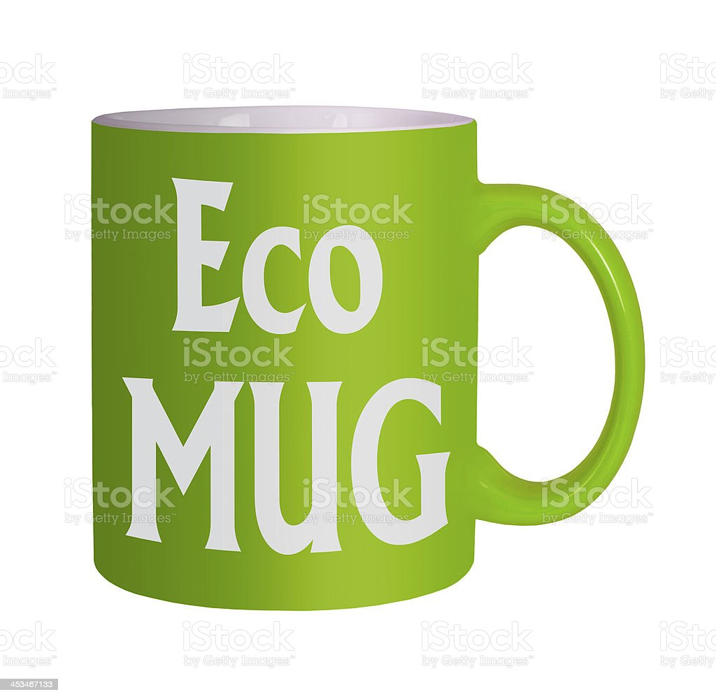 green eco mug white background stock photo download image now istock 2