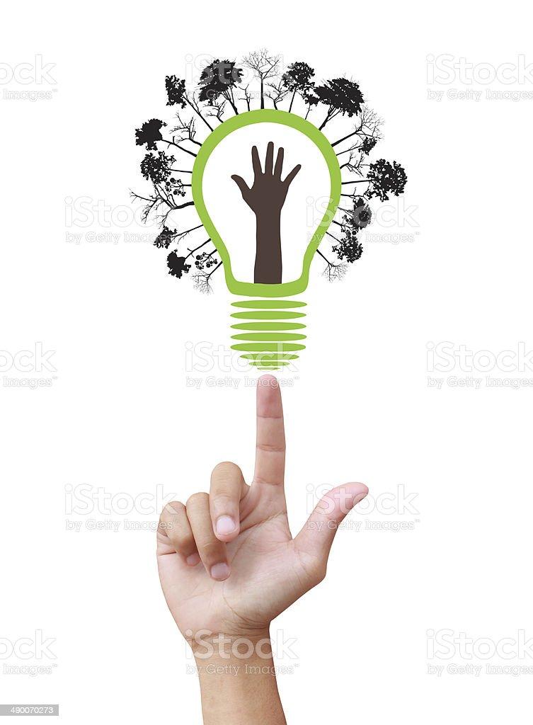 Grüne Ökologie Glühbirne – Foto