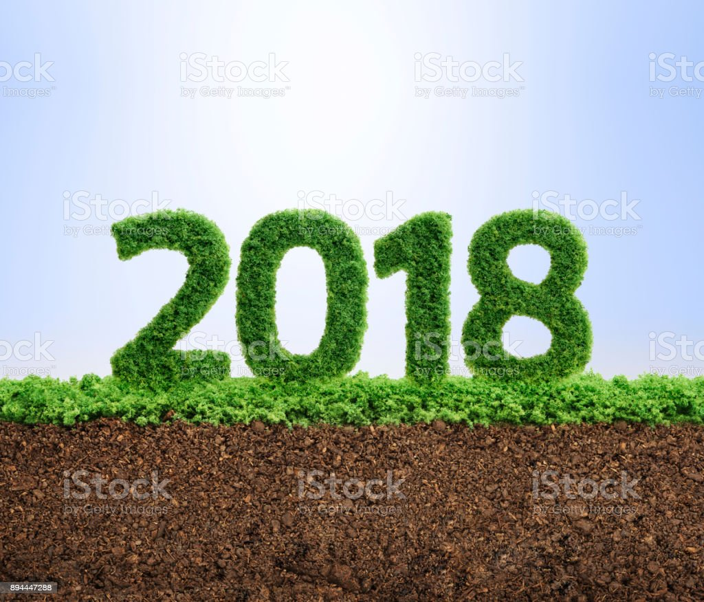 2018 green ecology year concept stock photo
