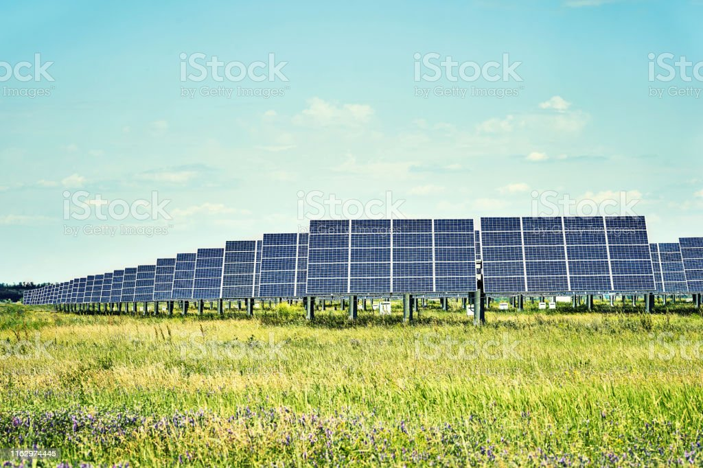 Solar station. Solar panels for the production of natural solar...