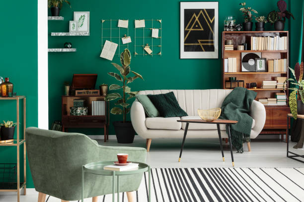 316 Emerald Green Lounge Room Stock Photos Pictures Royalty Free Images Istock