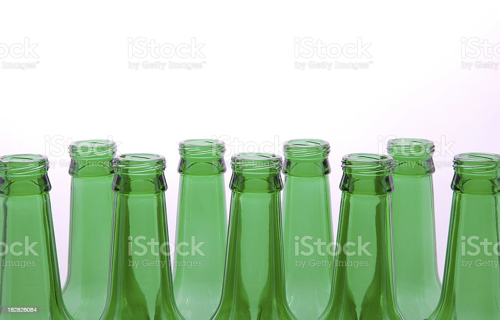 Green empty bottles royalty-free stock photo