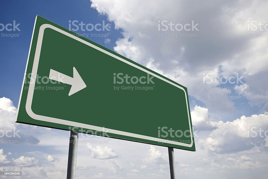 Green empty sign stock photo