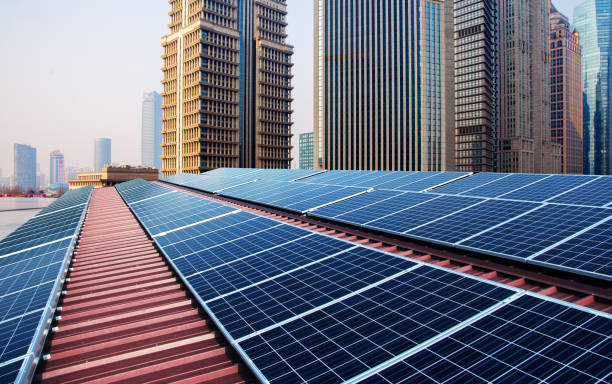 Green energy and sustainable development of solar energy with Shanghai bund panorama Skyline Green energy and sustainable development of solar energy with Shanghai bund panorama Skyline huangpu district stock pictures, royalty-free photos & images