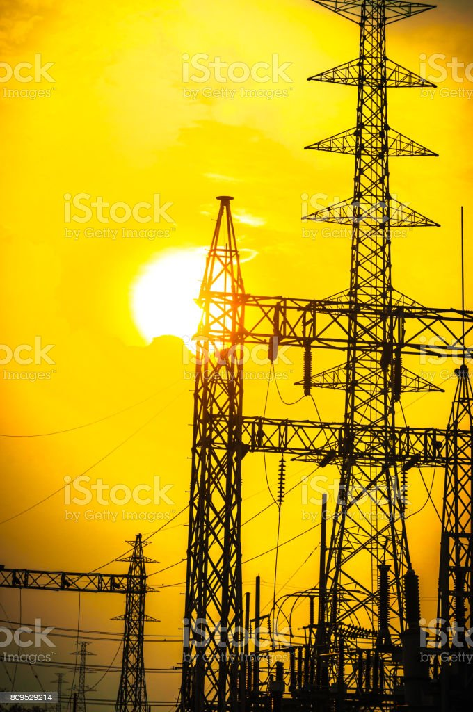 Green energy concept, Electricity station, Electricity plant...